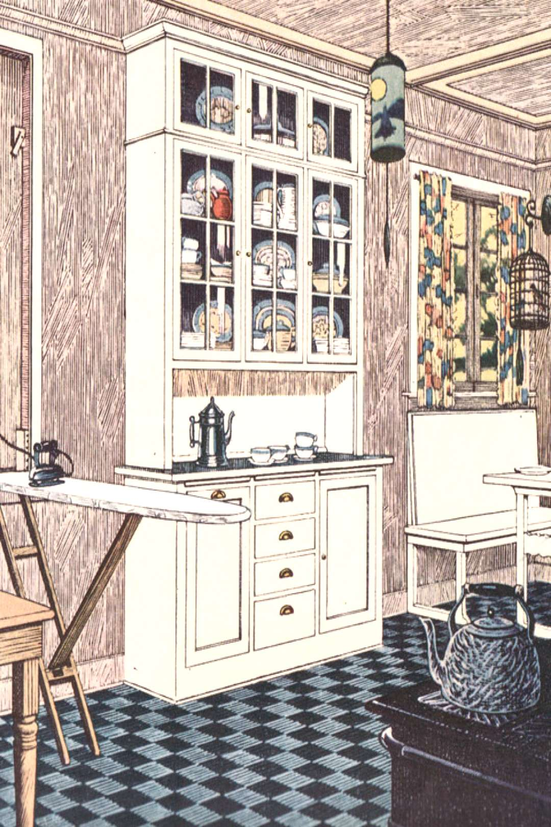 1920s Kitchen Gallery - Kitchen flooring, cabinetry, nooks, and plumbing - Vinta...#1920s
