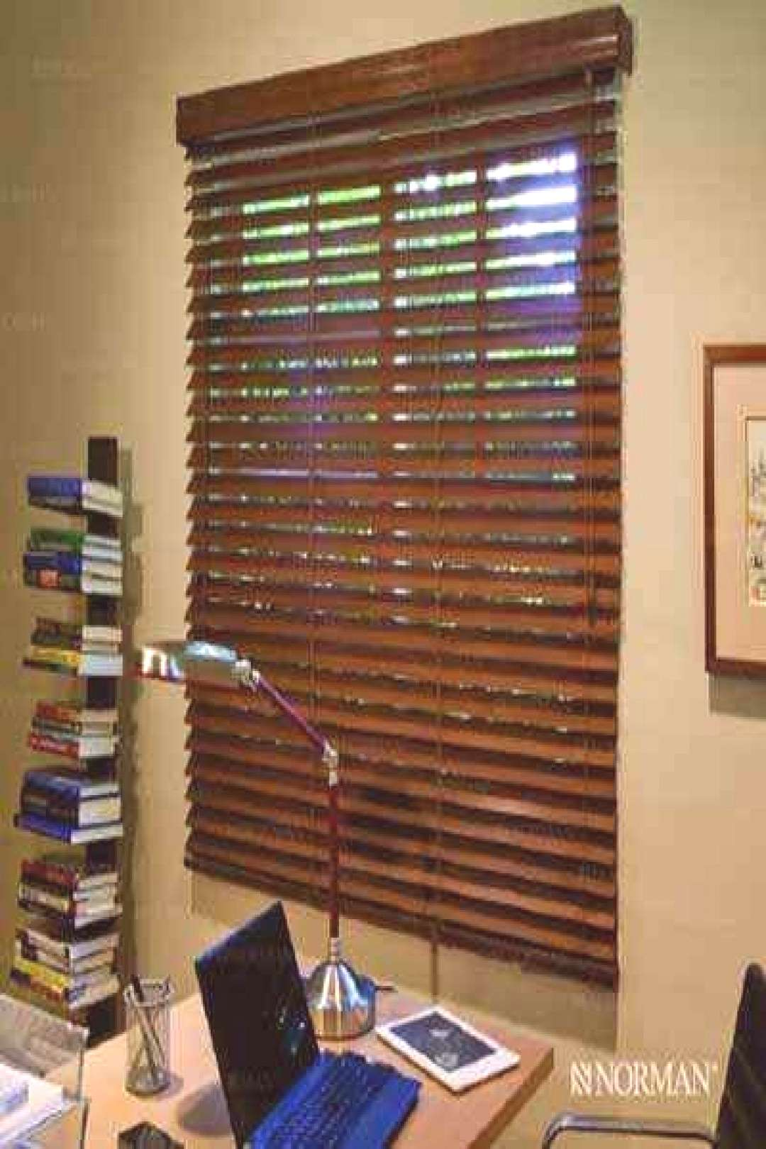 2 1/2 inches Normandy Real Wood SmartPrivacy Blinds - -