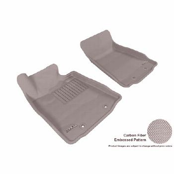 3D MAXpider 2009-2016 Nissan 370Z Front Row All Weather Floor Liners in Gray with Carbon Fiber Look