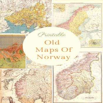 A fabulous collection of old maps of Norway. As well as vintage country maps there are also some ma