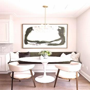 Beautiful Breakfast Nooks for Relaxed Kitchen Dining - jane at home -  Breakfast nook with a built-