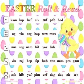 EASTER Nonsense Word Fluency R.T.I. ROLL and READ Resource   TpT