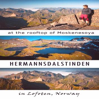 Hermannsdalstinden, the highest peak in western Lofoten. a total hiking guide incl route descr + ma