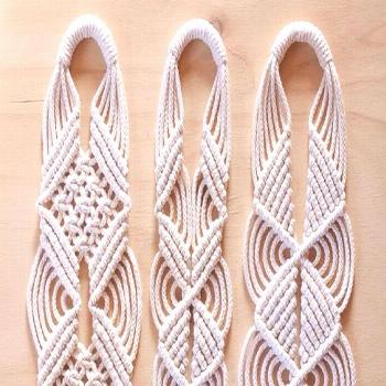 Knotting a series of these plant hangers for my sweet cousin in Norway. Can you guess which design