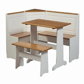 Linon Home Ardmore Nook Set with Pine Accents, White