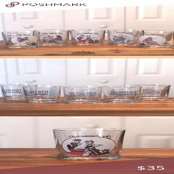 Norman Rockwell Glass Collection (5 Tumblers) Norman Rockwell Glass Collection (5 Tumblers)  Listed