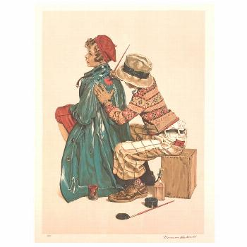 """Norman Rockwell Print - """"The Young Artist"""" Framed Lithograph Signed Artist' Proof"""