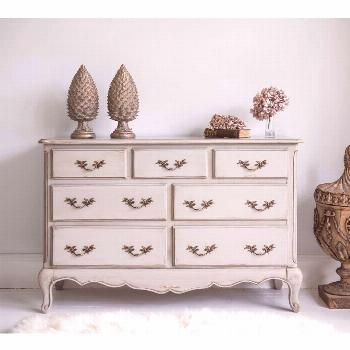 Normandy 7-Drawer Shabby Chic Chest of Drawers -  Normandy 7-Drawer Shabby Chic Chest of Drawers  -
