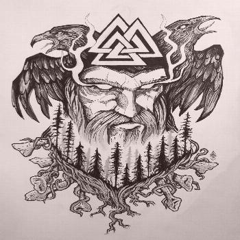 Old Norse Odin tattoo design Made this symbolic design to represent God Odin and nordic forest, wit