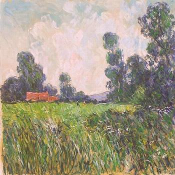 Original Landscape Painting by Patrick Marie | Impressionism Art on Canvas | Wild herbs in Normandy