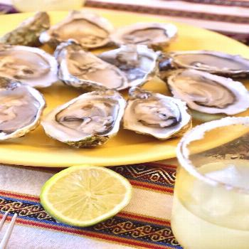 Oysters from Normandy with a Margarita | Paris with Landen We didn't have lemons so I decided to pa