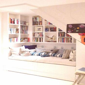 The most snug and cosy 'book nook...