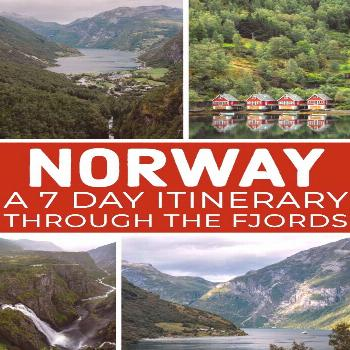 This one week Norway Fjords itinerary covers the stunning West Norwegian Fjords, including Geirange