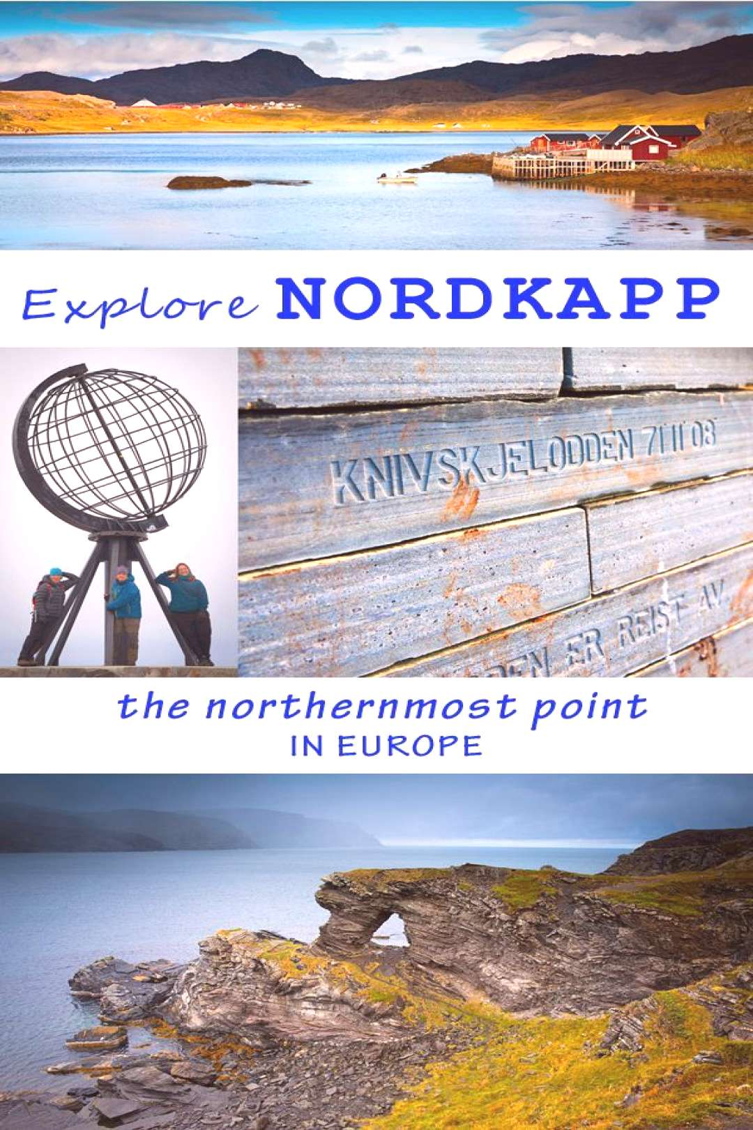 complete guide to North Cape- the northernmost point in Europe. How to get there, free entrance+map