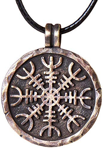 Helm of Awe Necklace Handcrafted Viking Protection Symbol