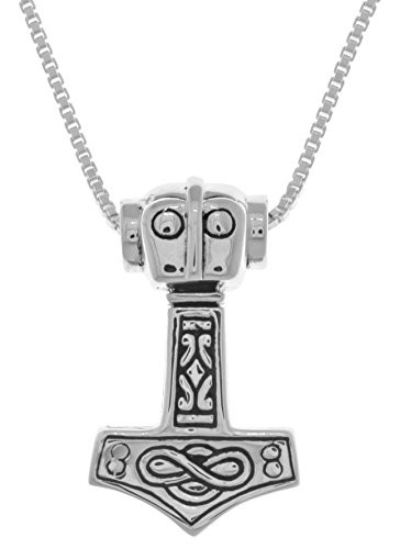 Jewelry Trends Sterling Silver Thors Hammer Celtic Pendant