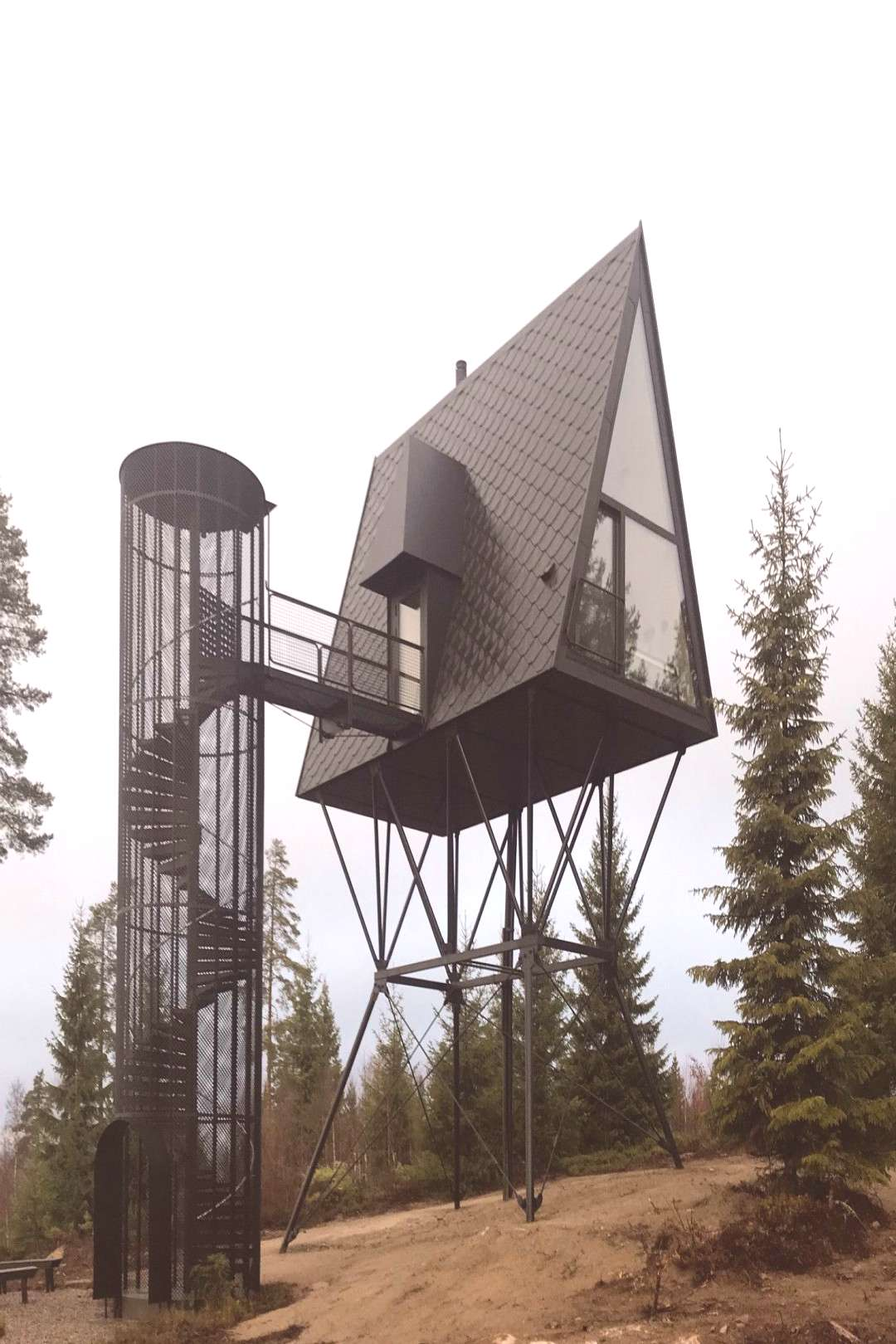 Lookout in the Moomin Forest - tree houses by Espen Suvernik in Norway Lookout in the Moomin Forest
