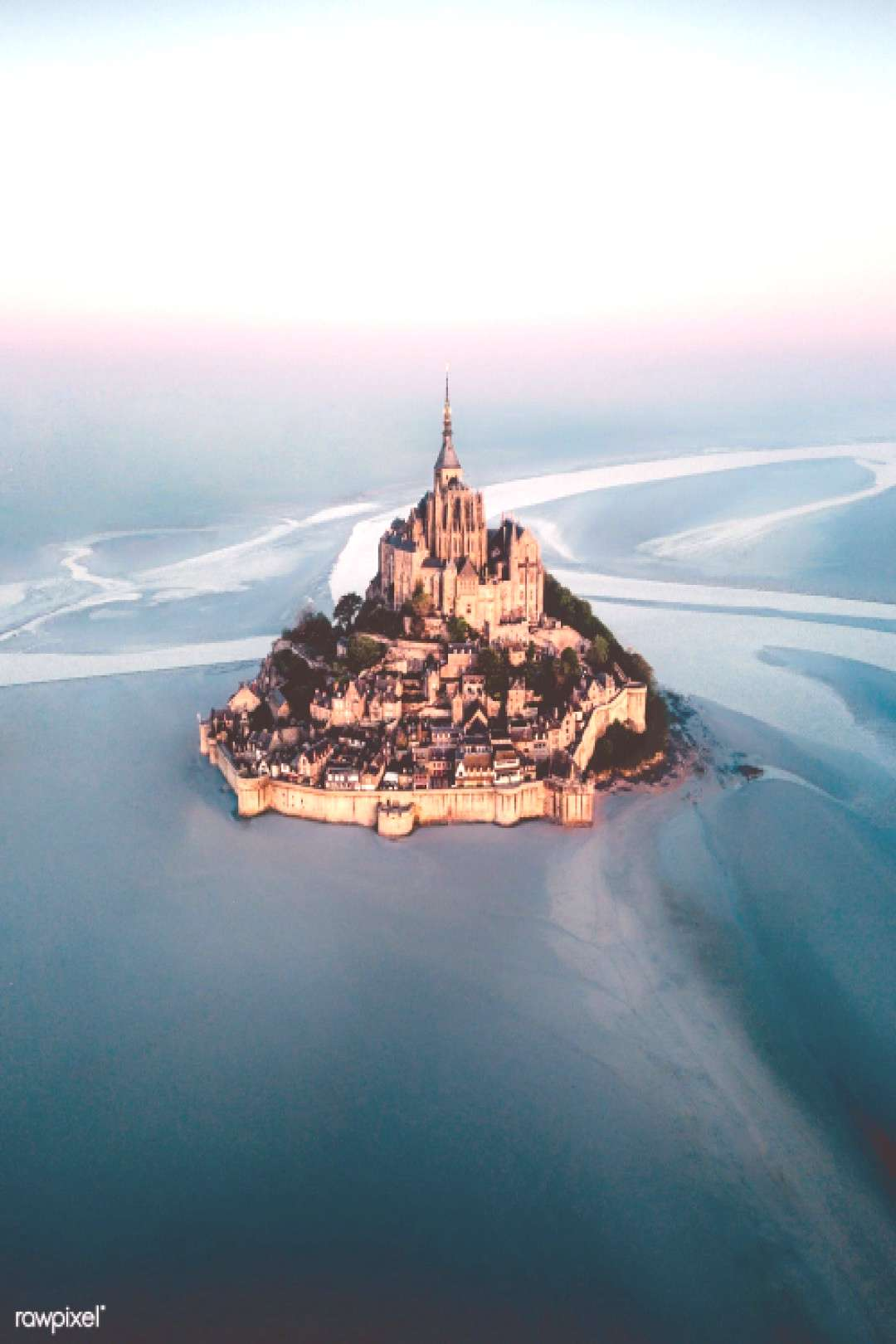 Mont Saint-Michel island in Normandy France   premium image by